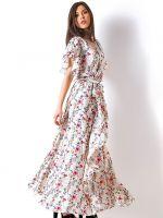 Длинные платья в пол с коротким рукавом