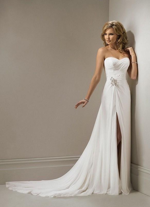 Свадебное платье разрез спереди