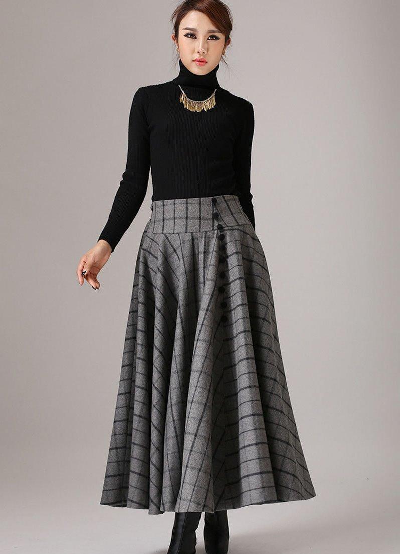 Длинные женские теплые юбки