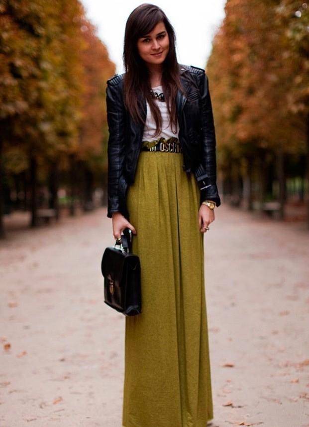 юбка полусолнце в пол с чем носить