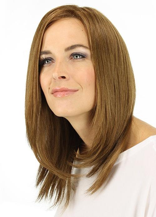 Прическа боб на длинные волосы с челкой