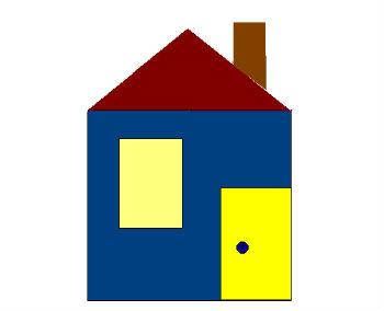 картинки домик из геометрических фигур