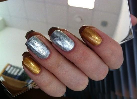 Ногти темно-синий дизайн