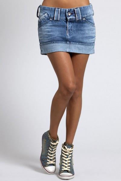 джинсовые юбки мини