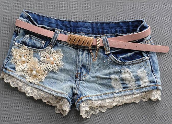 Джинсовые шорты с вышитыми цветами - The Informal Shop 62