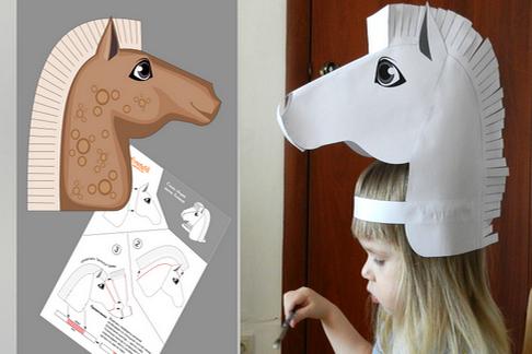 Как сделать маску из бумаги бесплатно
