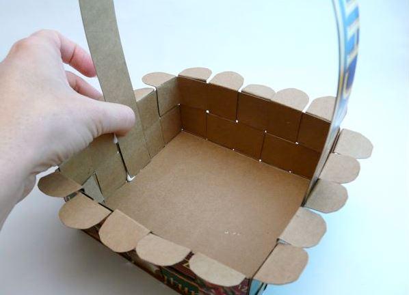 Как сделать корзиночку из картона своими руками