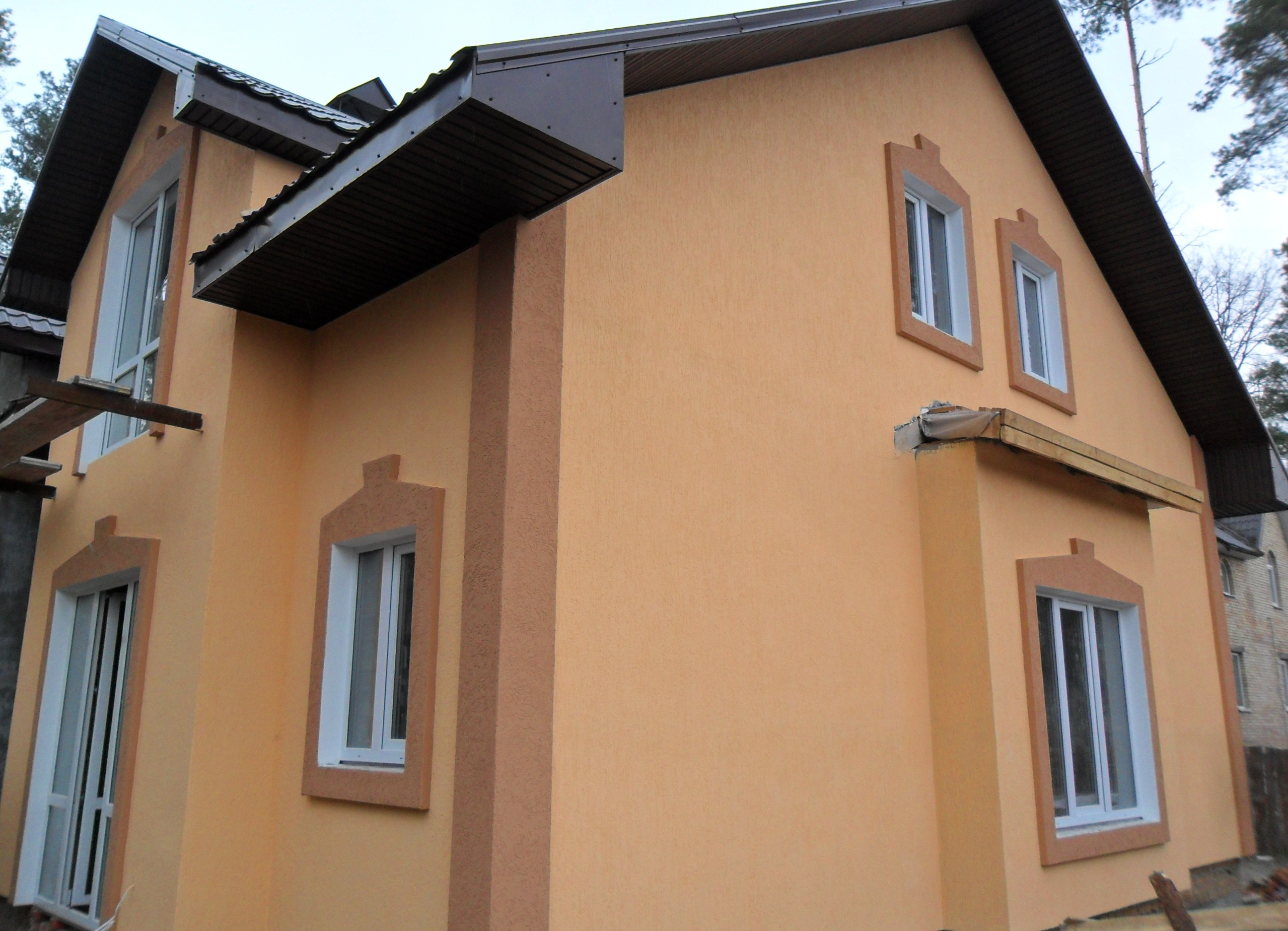 Фасадная штукатурка короед фото домов