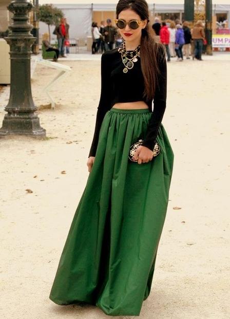 Длинные юбки колокол фото