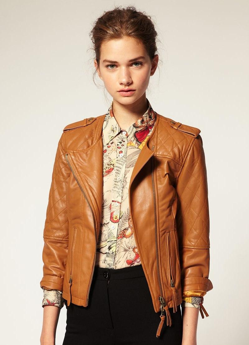 Варианты кожаных курток с мехом