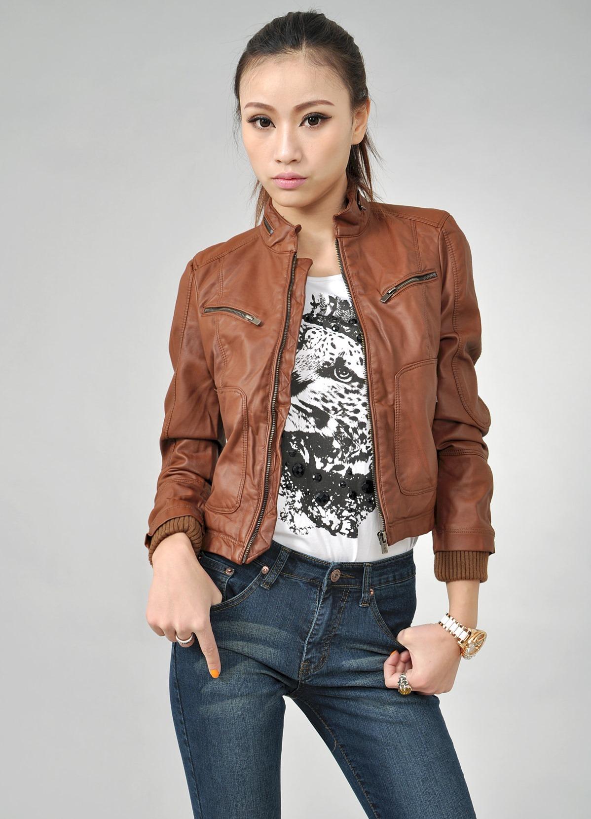 Кожаные Женские Куртки 2013