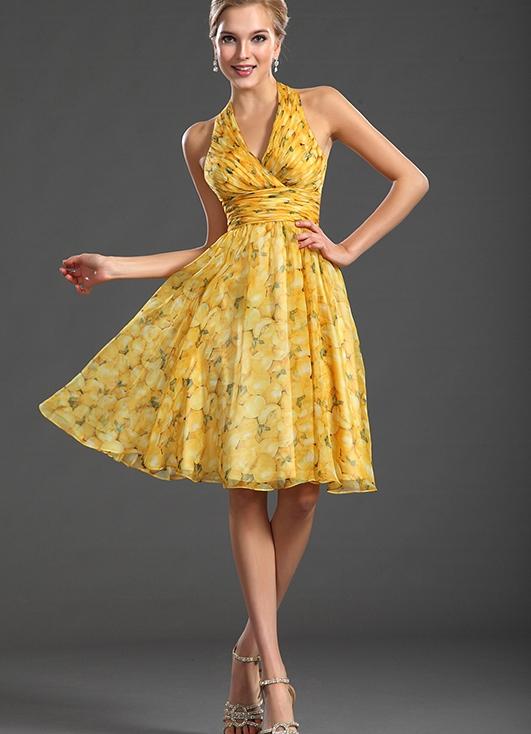 EDressit 2013 новое привлекательное ситцевое платье с бретелькой на шеи и V-декольте для коктейля