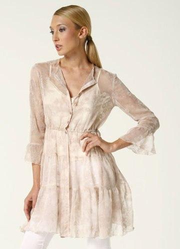 Белая Нарядная Блузка Из Коллекции Бурда