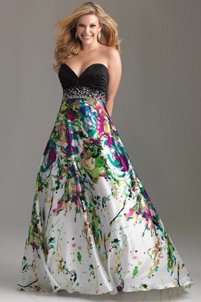 Фасоны платьев для полных девушек 11