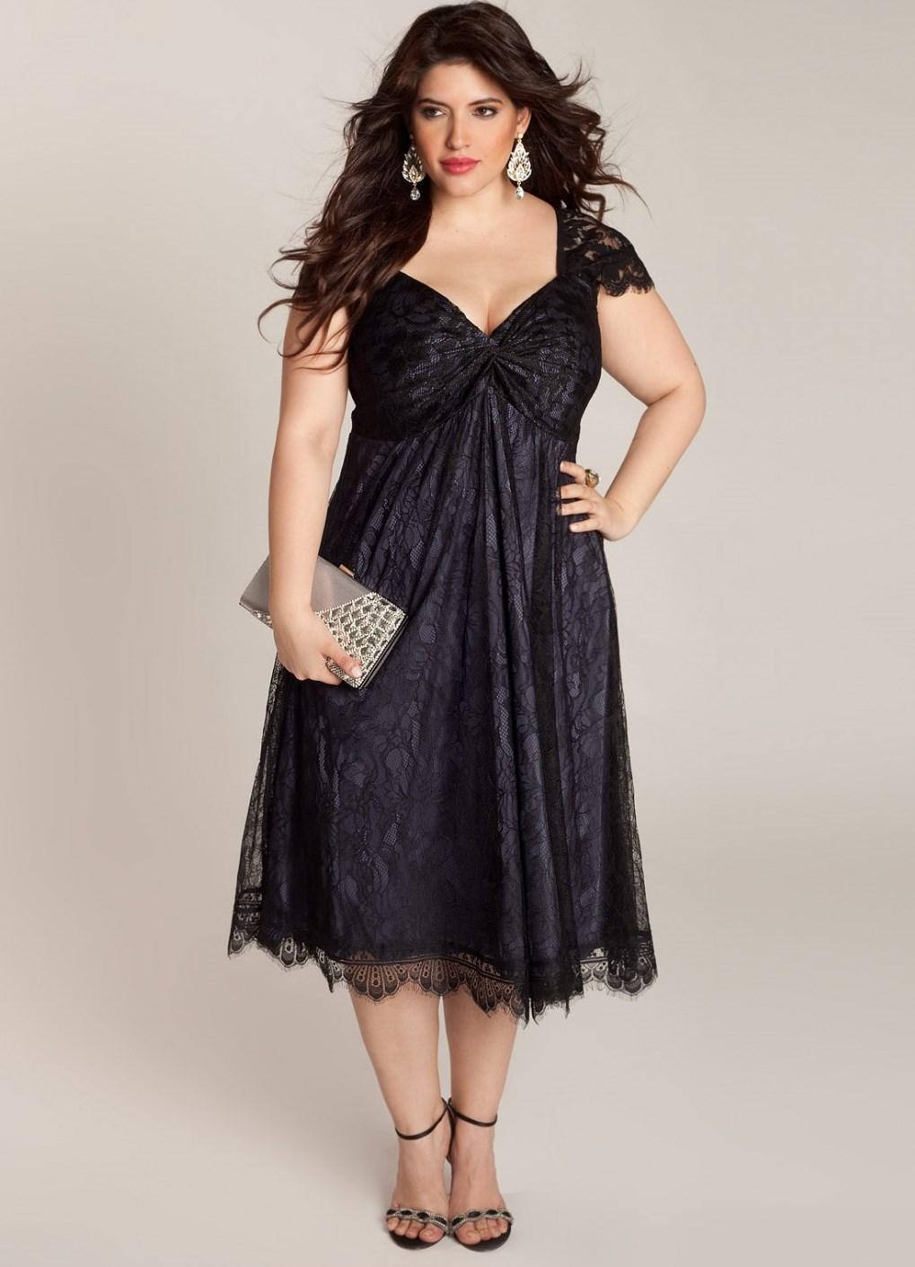 Фасон вечерних платьев для полных и маленького роста