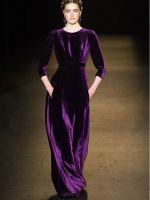 Фасоны платья из велюра