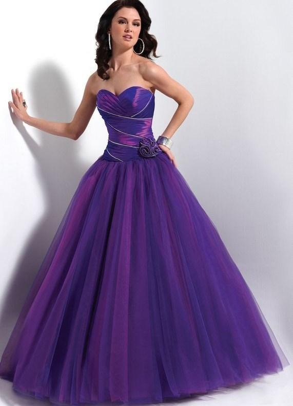 Пышное платье фиолетовый