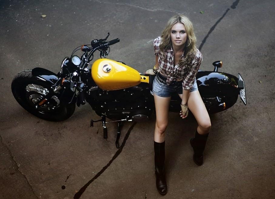 Идеи фото на мотоцикле