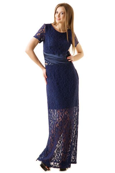 Гипюровое платье фото для полных в пол