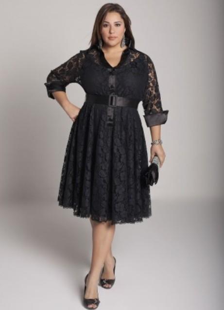 Модели платья из гипюра для полных фото