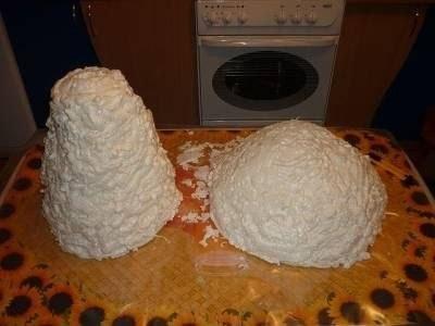 Как сделать грибы из монтажной пены