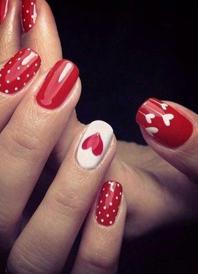 Гель лак красный фото ногтей дизайн