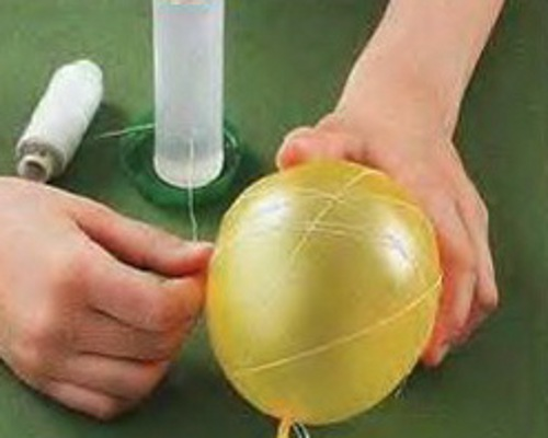 Поделки из воздушных шариков нитки