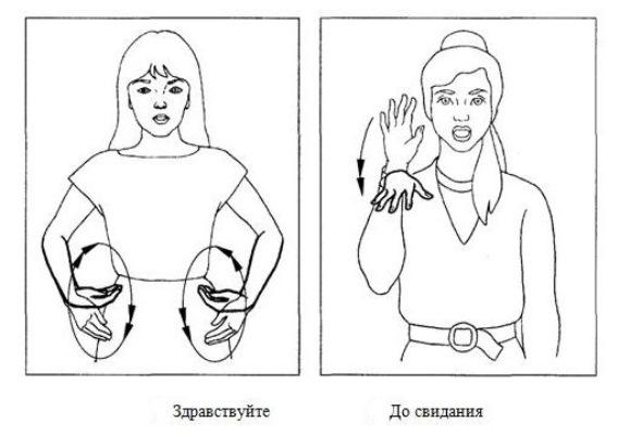 Сексуальный язык жестов двумя руками
