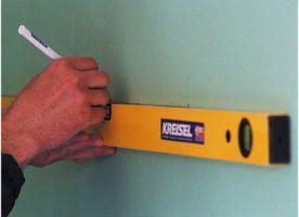 Как повесить кухонные шкафы на стену из гипсокартона5