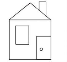 Аппликация из геометрических фигур 2