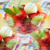 фруктовые салаты с мороженым