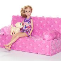 как сделать диван для куклы
