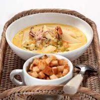 рецепт сырного супа с морепродуктами