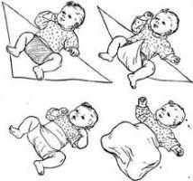 широкое пеленание ребенка
