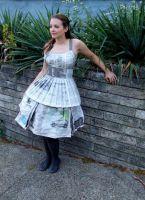 как <strong>сделать</strong> сделать платье из газет