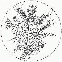 Вышивка лентами ромашки