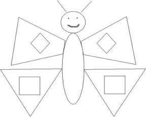аппликация из геометрических фигур бабочка 1