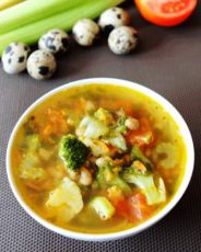 овощной суп на курином бульоне в мультиварке