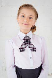 галстук для девочки к школьной форме