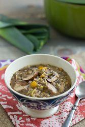 Куриный суп с грибами и гречкой