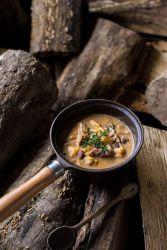 Суп на говяжьем бульоне