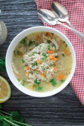 Овощной суп с курицей в мультиварке