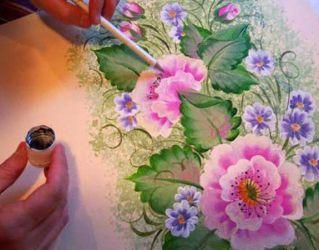 Рисунки на стенах своими руками13