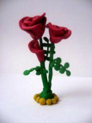 цветы из пластилина 10