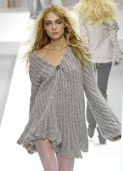 Вязаное платье на зиму