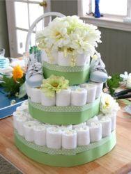 как сделать торт из памперсов