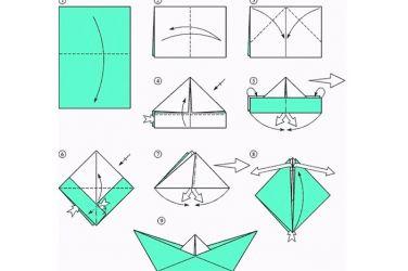 Как сложить кораблик из бумаги-1
