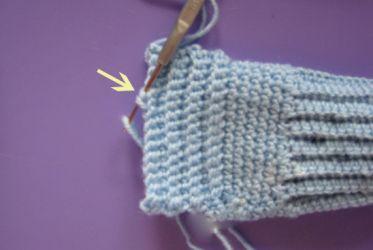 как вязать крючком носки 13