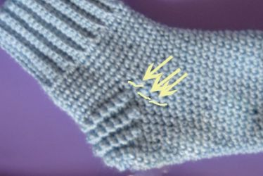 как вязать крючком носки 17