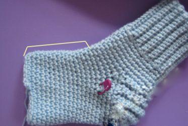 как вязать крючком носки 18